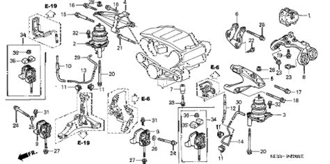 2000 Acura Rl Engine Diagram by Acura Store 2000 Rl Engine Mount Parts