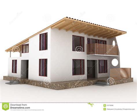 la maison avec le toit en pente 226 2 image libre de droits
