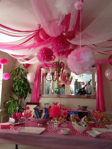 Pink Hanging Decorations - quot pink quot decor i used a hula hoop as the central
