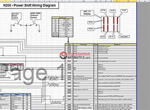 Terex H200 Power Shift Wiring Diagram