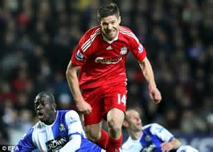 not shabby liverpool arsenal keep tabs on 163 12m rated liverpool midfielder xabi alonso daily mail online