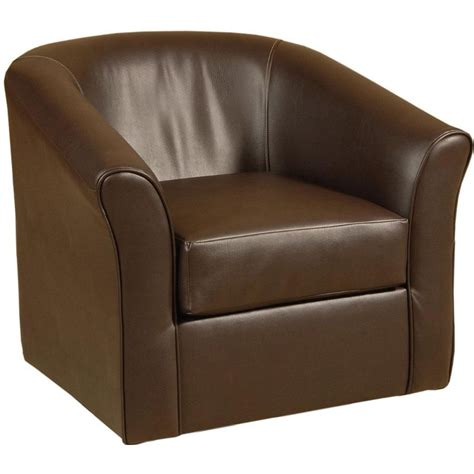 sanmarino 31 quot chocolate upholstered swivel chair