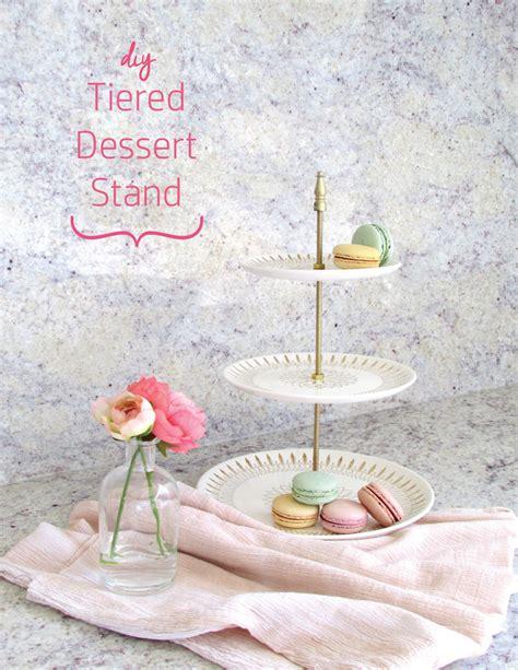 diy tiered dessert stand  porcelain plates