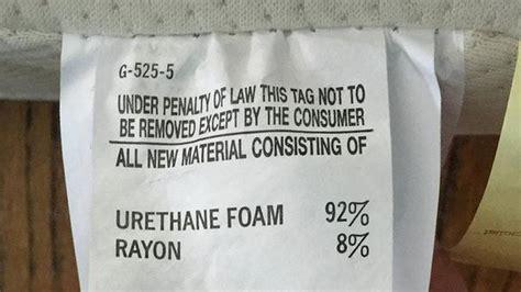 illegal  remove    remove mattress tag