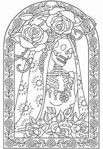 El Dia De Los Muertos Skulls Coloring Pages - AZ Coloring ...