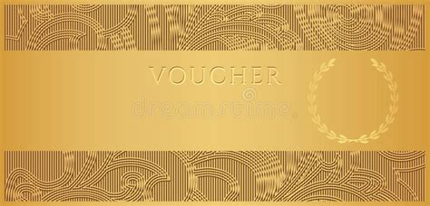 gold voucher gift certificate coupon ticket stock