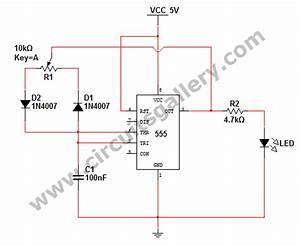Monostable 555 Multivibrator Working Principle And Circuit