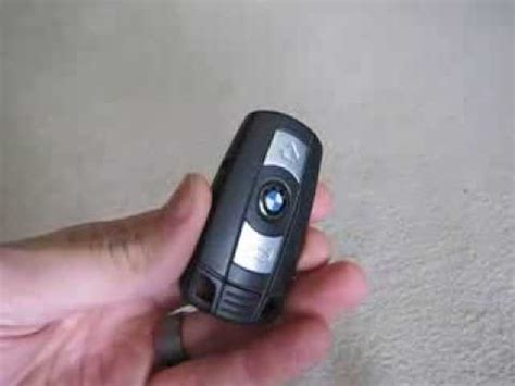 bmw  key fob battery replacement   youtube