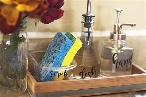 making cleanup fast   organized kitchen sink diy