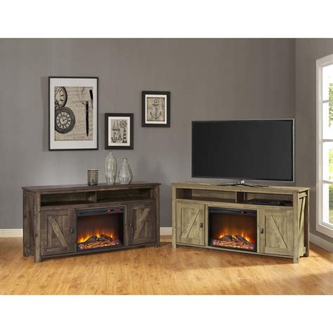 fireplace tv stand  heritage pine