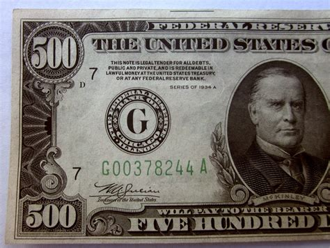 500 Dollar Bill Glossy Poster Picture Photo Five Hundred