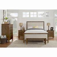 solid wood bedroom furniture sets LuXeo Cambridge 5-Piece King Bedroom Set with Solid Wood ...