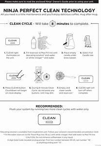 Ninja Coffee Bar U00ae Cleaning Cycle Instructions  U2013 Cf080