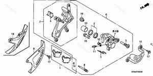 Honda Motorcycle 2008 Oem Parts Diagram For Rear Brake