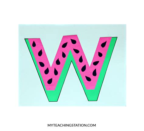 letter w crafts letter w craft watermelon myteachingstation