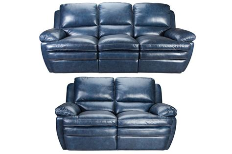 Power Reclining Leather Loveseat by Mazarine Power Reclining Leather Sofa Loveseat At
