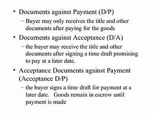 intpayment With documents against acceptance