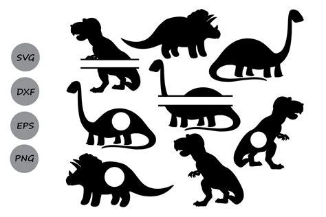 Free flower monogram frame svg cut files. Dinosaur Monogram| Dinosaur SVG Cut Files - SoFontsy