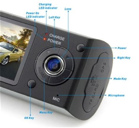 dual frontrear car dashboard video camera gps data