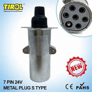 Tirol T23413b New 7 Pin 24v Metal Trailer Plug S Type