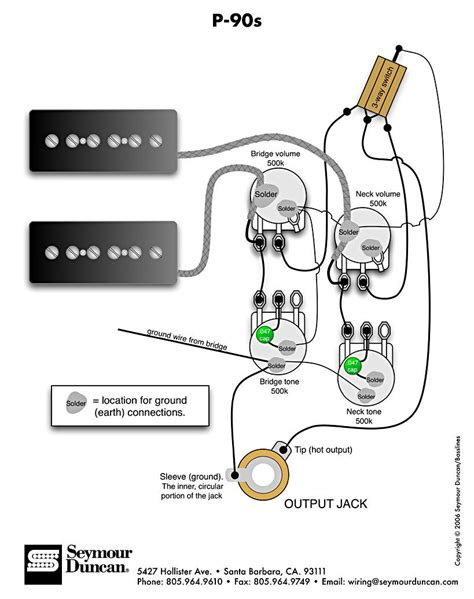Gibson Humbucker 1 Tone Wiring Diagram Vol by P 90s 2 Vol 2 Tone Switch Projects To Try In 2019