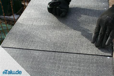 dachpappe und bitumenschweissbahn selber verlegen talude