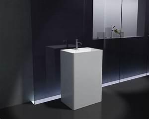 Waschbecken 60 X 30 : freistehendes waschbecken aus mineralguss pb2022 wei 60 x 42 x 90 cm solid stone badewelt ~ Markanthonyermac.com Haus und Dekorationen