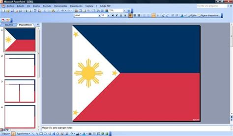 flag  philippines powerpoint template