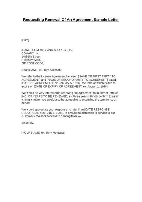 renewal letter sle the best letter sle