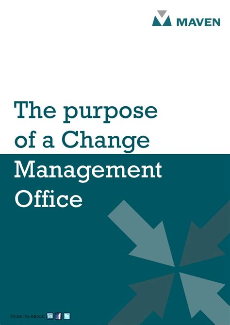 bureau of change the purpose of a change management office
