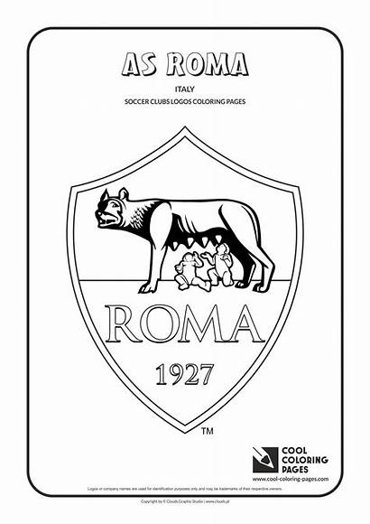 Coloring Pages Cool Roma Soccer Logos Clubs