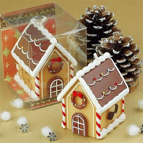 gingerbread house shaped birthday candl christmas
