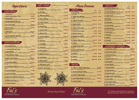 indian cuisine menu fal 39 s takeaway menu indian warrington takeawaymenu info