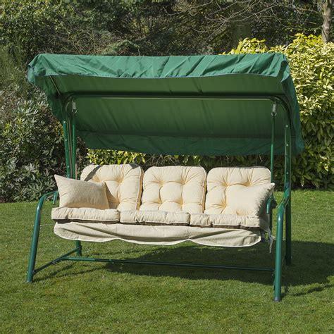 garden 3 seater replacement swing seat hammock cushion set