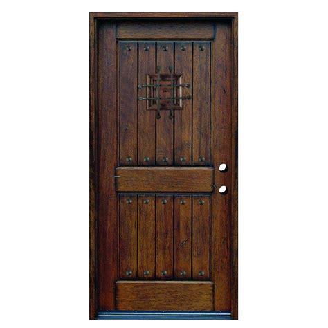main door      rustic mahogany type left hand