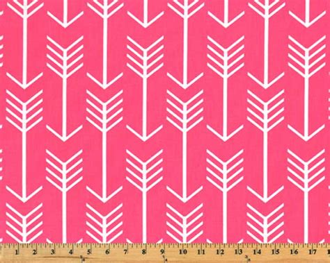 Arrow Candy Pink / White Fabric