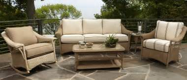 outdoor patio wicker chairs seat using light brown thick