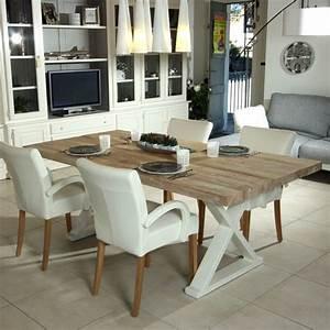 Table A Manger Blanc Et Bois : table salle a manger bois naturel un79 jornalagora ~ Teatrodelosmanantiales.com Idées de Décoration