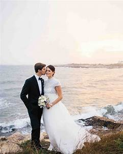 25 dreamy beach wedding dresses martha stewart weddings for Where to take wedding photos