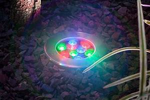 Rgb led in ground well light watt landscape