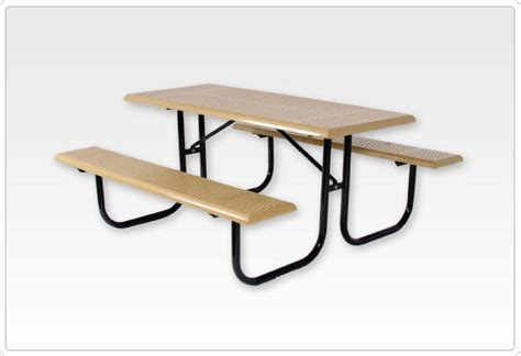 standard 8 foot table standard rect picnic table 2 3 8 inch walk through 8