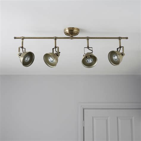 b q kitchen lights ceiling waverley gold 4 l bar spotlight departments diy at b q 4229