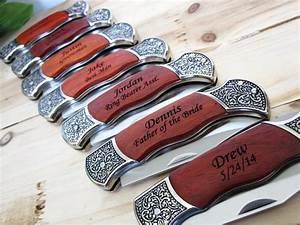 4 Groomsmen Engraved Pocket Knife - Groomsman Best Man ...
