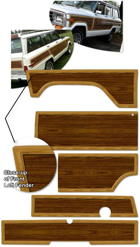 jeep grand wagoneer wood panel graphics kit
