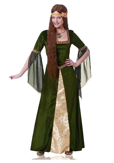 Women's Green Renaissance Lady Costume