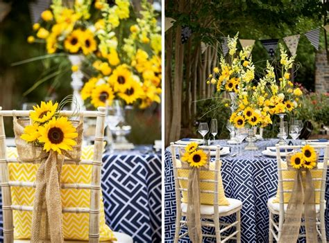 Yellow And Navy Summer Wedding Floral Inspirations