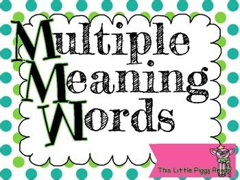 multiple meaning words ccss  teks aligned staar style