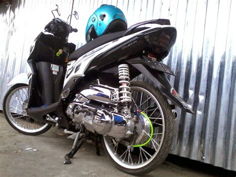 Modifikasi Mio Soul Putih by 90 Modifikasi Motor Mio Soul Gt Biru Sobat Modifikasi