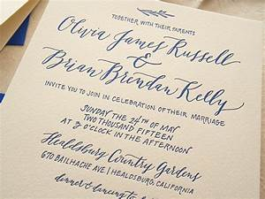 cobalt calligraphy wedding invitations With wedding invitations calligraphy or not