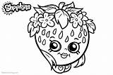 Shopkins Coloring Strawberry Lineart Printable Bettercoloring Characters Respective Owners Featured sketch template